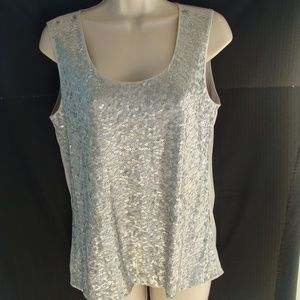 Chico's small gray sequins tank top